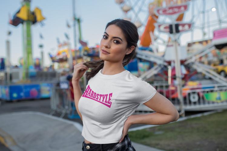hardstyle shirt dames classic roze