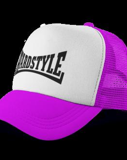 hardstyle truckercap paars