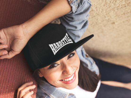 hardstyle cap met bedrukking