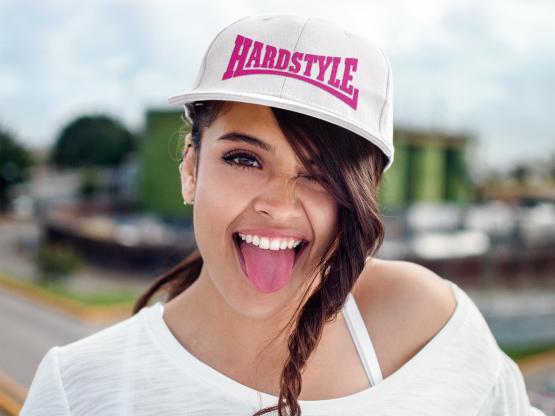 hardstyle snapback pet wit